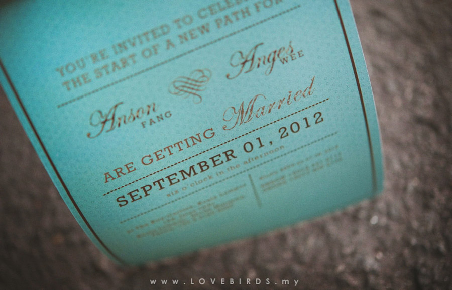 Anson & Agnes Wedding Invitations