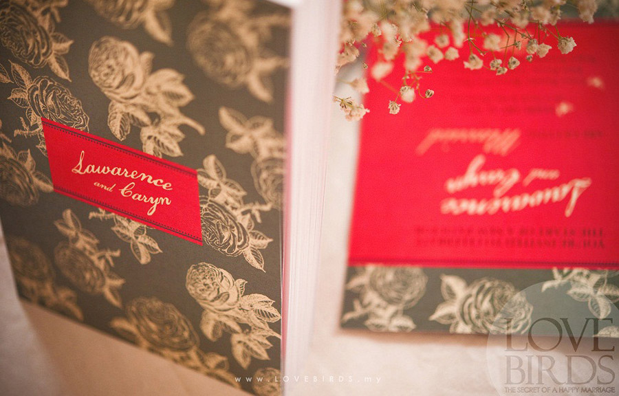 Lawarence & Caryn Wedding Invitations