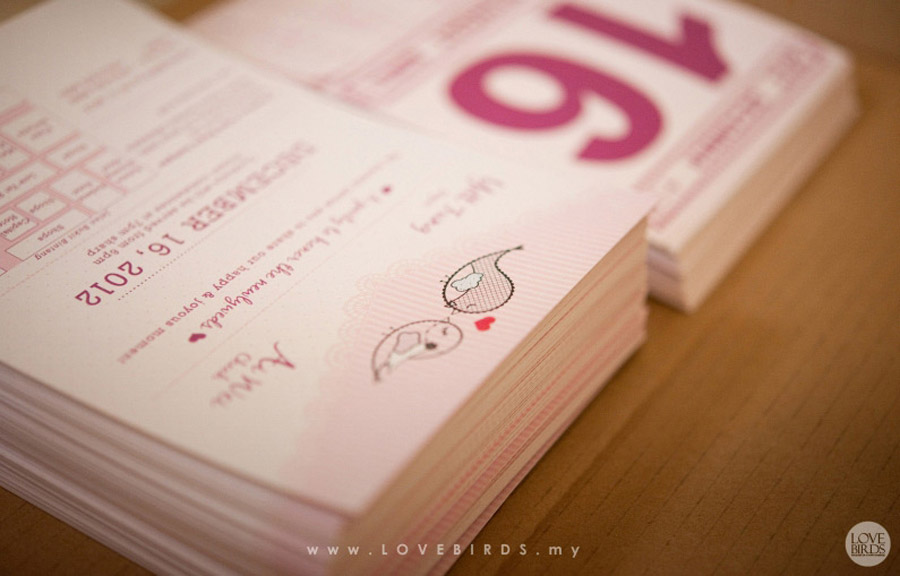 Chinese Calendar Wedding Invitations