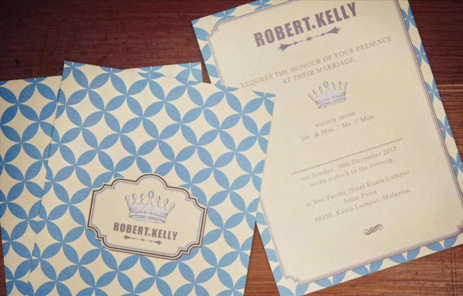 Robert & Kelly Wedding Invitations