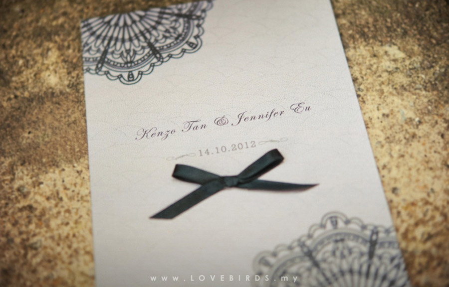 Kenzo & Jennifer Wedding Invitations