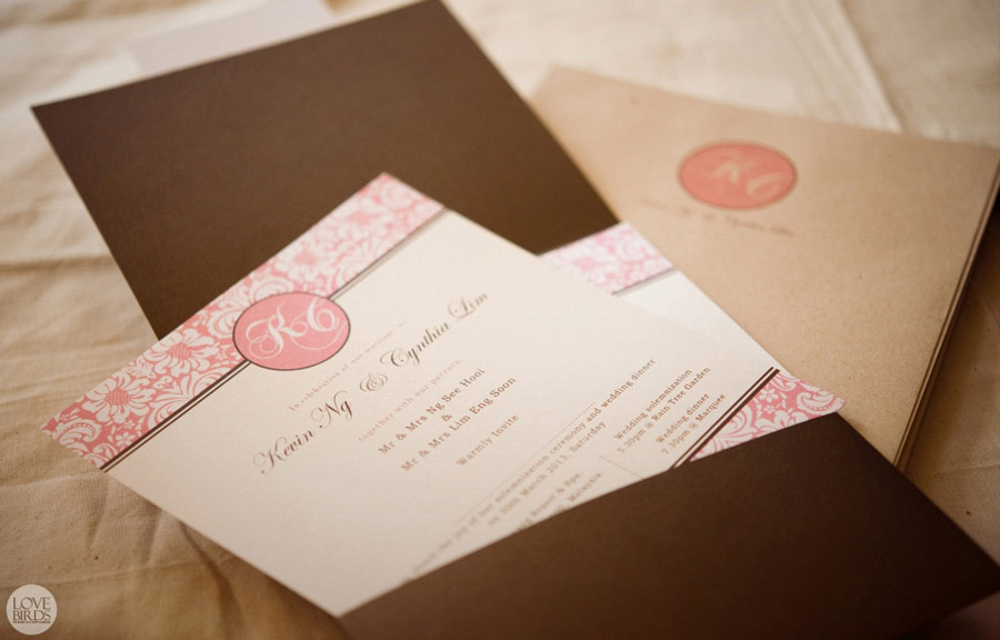 Kevin & Cynthia Wedding Invitations