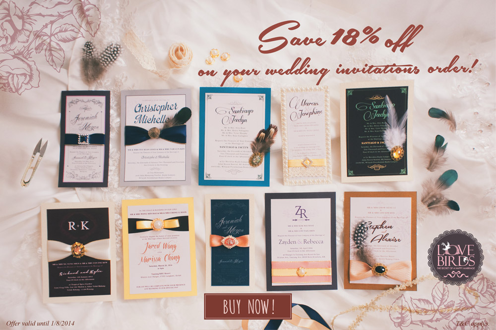 Classic Whimsy Wedding Invitations // Save 18% off on your Wedding Invitations Order