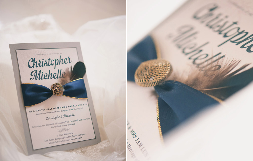 Christopher & Michelle Wedding Invitations