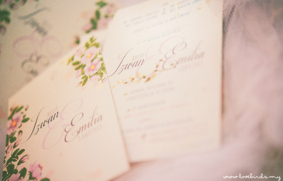 Izwan & Emilia Wedding Invitations
