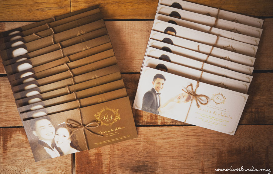 Darren & Alicia Wedding Invitations